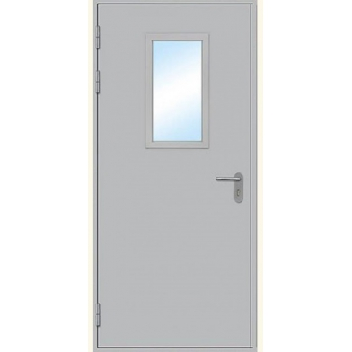 Противопожарная дверь остекленная одностворчатая, левая (EI 60, 2080х970) с наличником